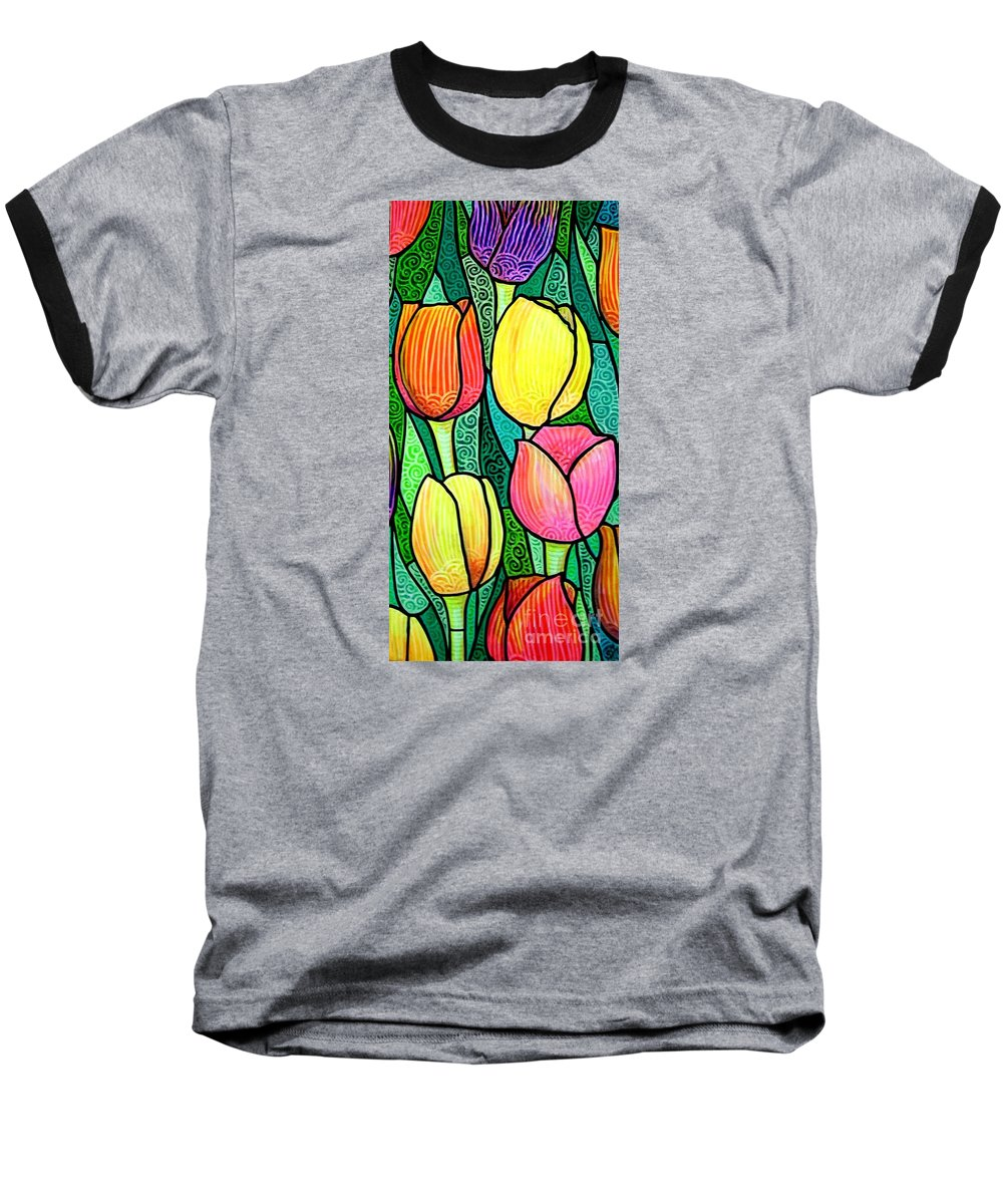 Tulips Baseball T-Shirt featuring the painting Tulip Expo by Jim Harris