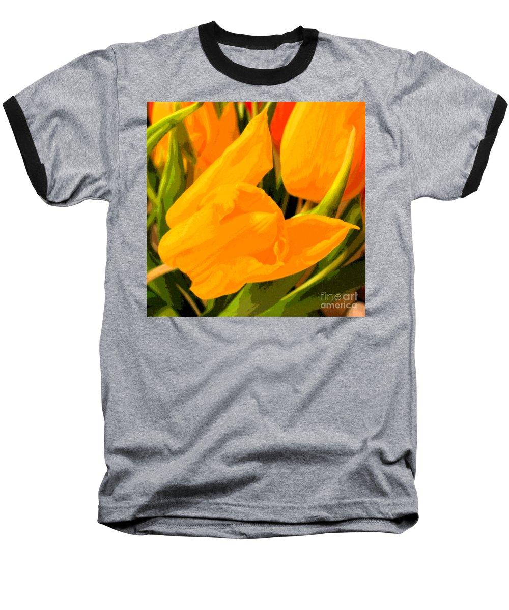 Tulip Baseball T-Shirt featuring the photograph Tulips by Amanda Barcon