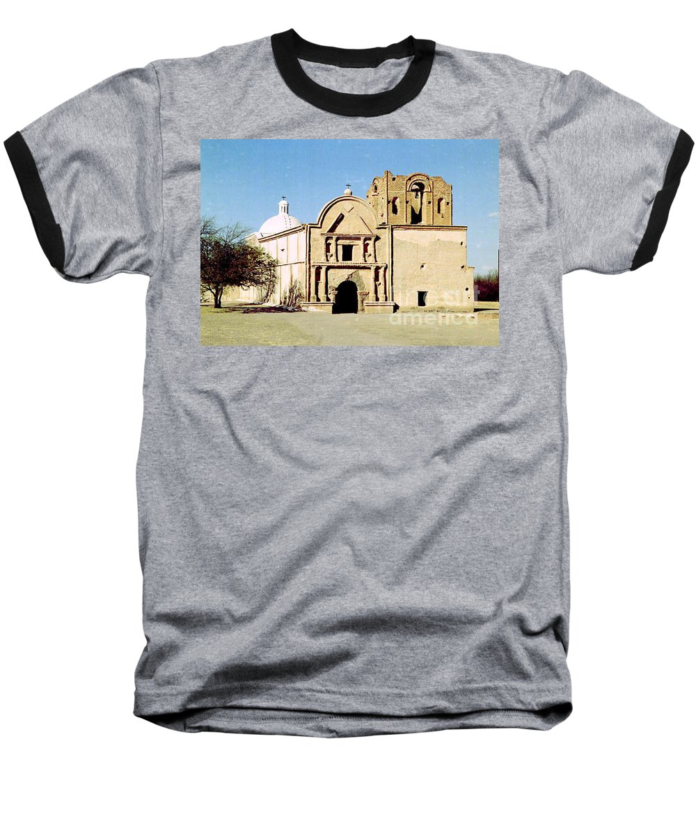 Mission Baseball T-Shirt featuring the photograph Tumacacori by Kathy McClure