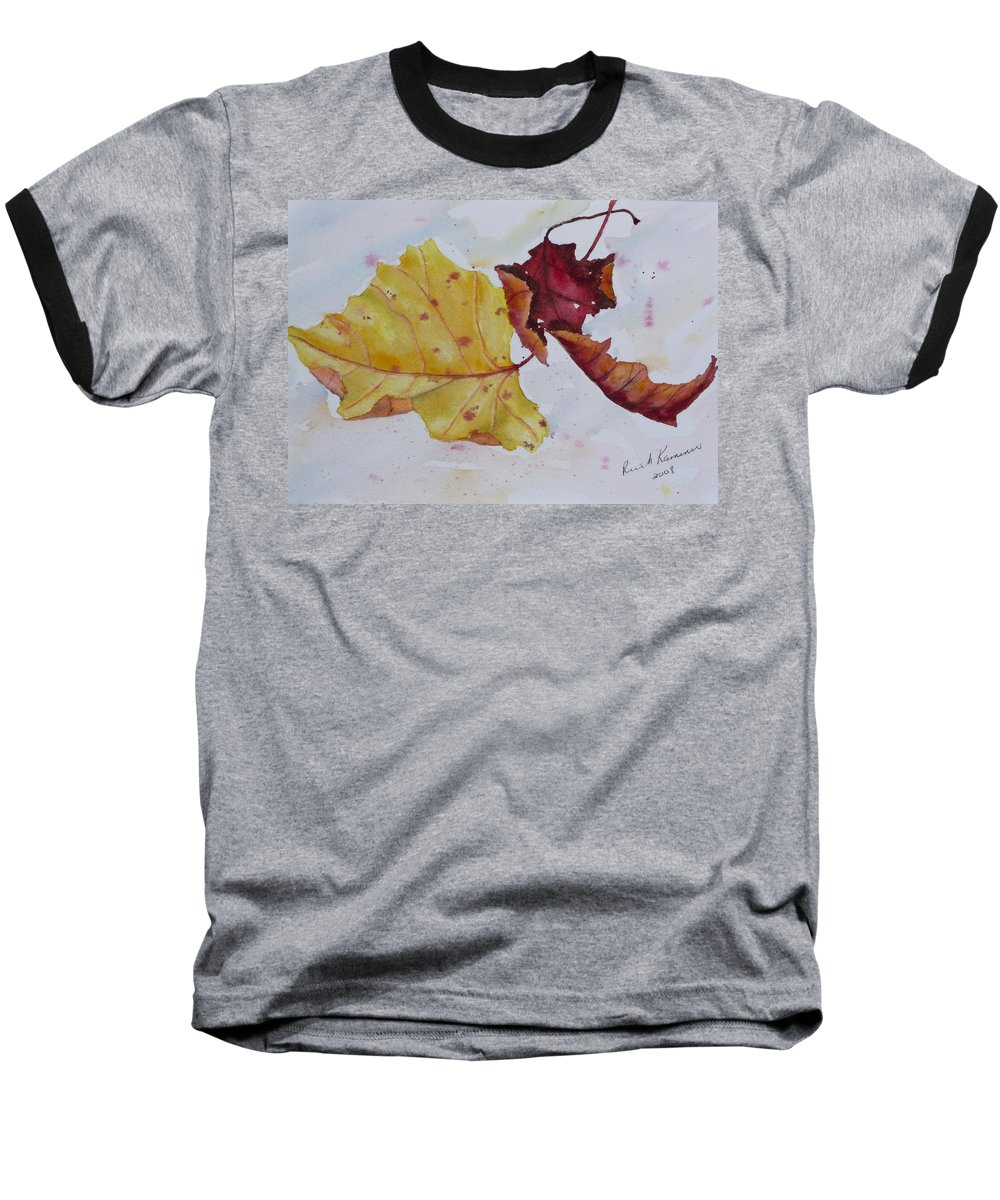 Fall Baseball T-Shirt featuring the painting Tumbling by Ruth Kamenev