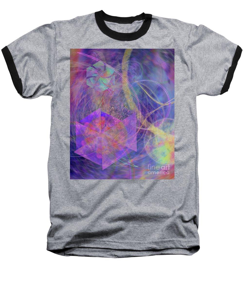 Turbo Blue Baseball T-Shirt featuring the digital art Turbo Blue by John Beck