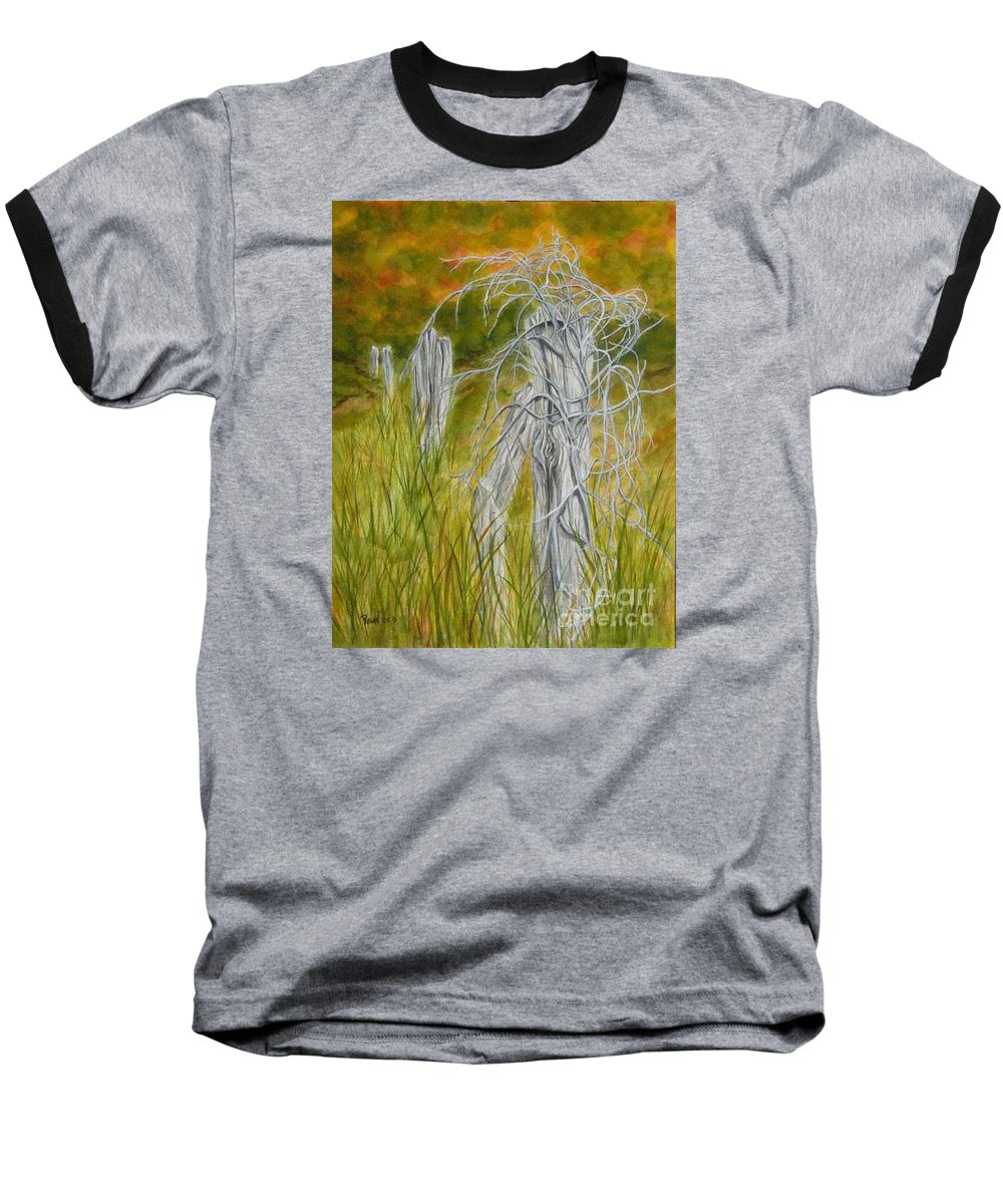 Landscape Baseball T-Shirt featuring the painting Twisted by Regan J Smith