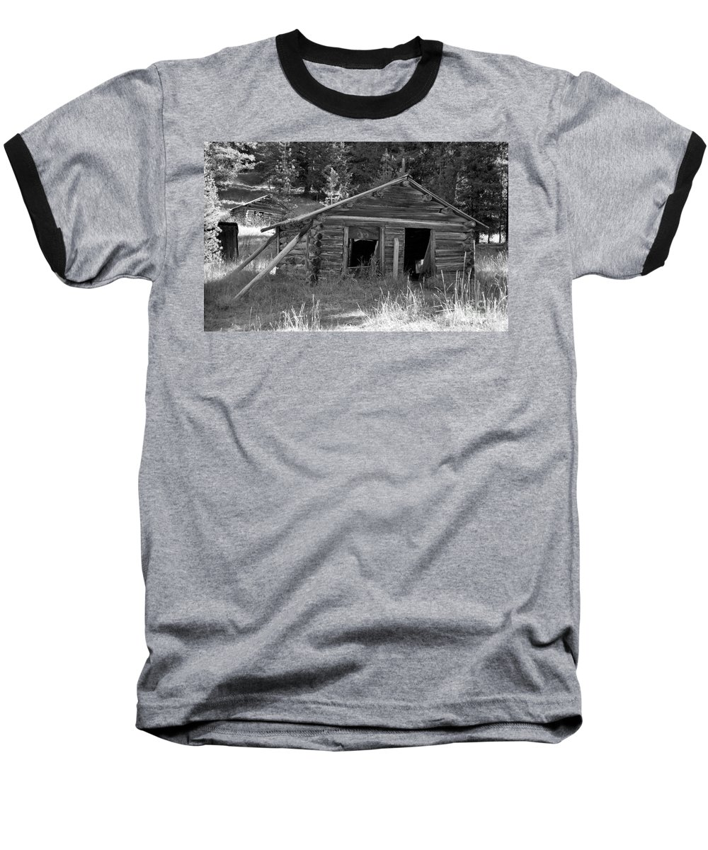 Abandoned Baseball T-Shirt featuring the photograph Two Cabins One Outhouse by Richard Rizzo