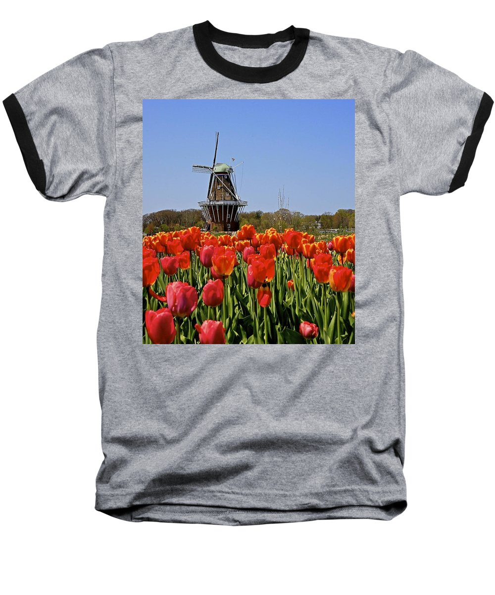 Tulips Baseball T-Shirt featuring the photograph Two Lips by Robert Pearson