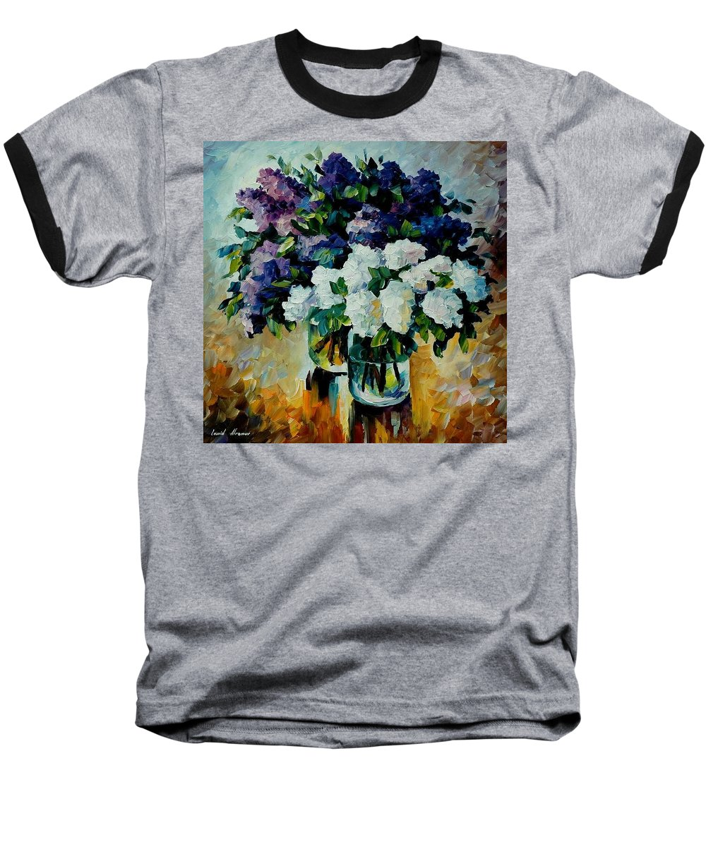 Painting Baseball T-Shirt featuring the painting Two Spring Colors by Leonid Afremov