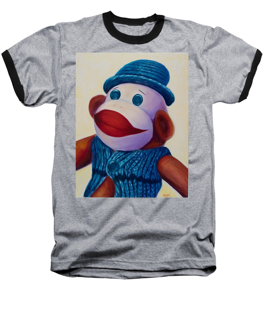 Children Baseball T-Shirt featuring the painting Uncle Frank by Shannon Grissom