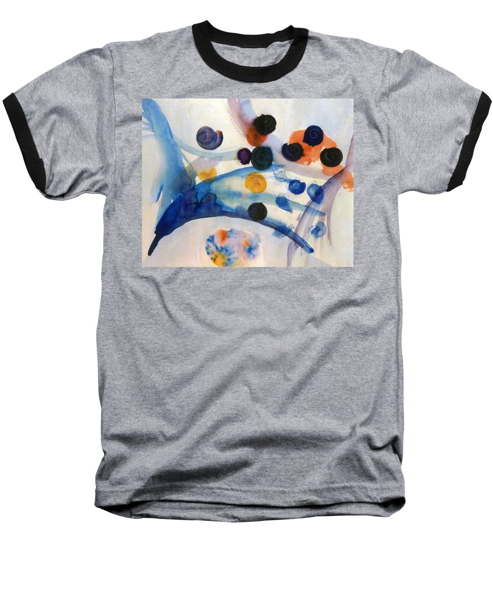 Abstract Baseball T-Shirt featuring the painting Under The Sea by Steve Karol
