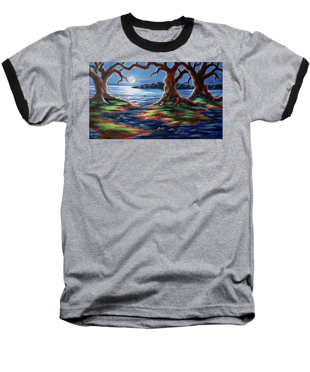 Textured Painting Baseball T-Shirt featuring the painting United Trees by Jennifer McDuffie