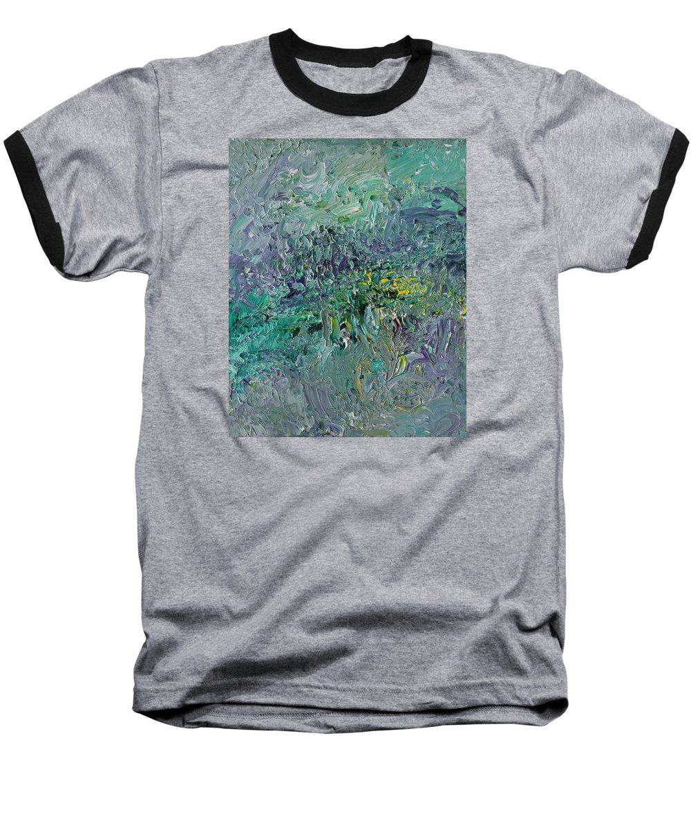 Fusionart Baseball T-Shirt featuring the painting Blind Giverny by Ralph White