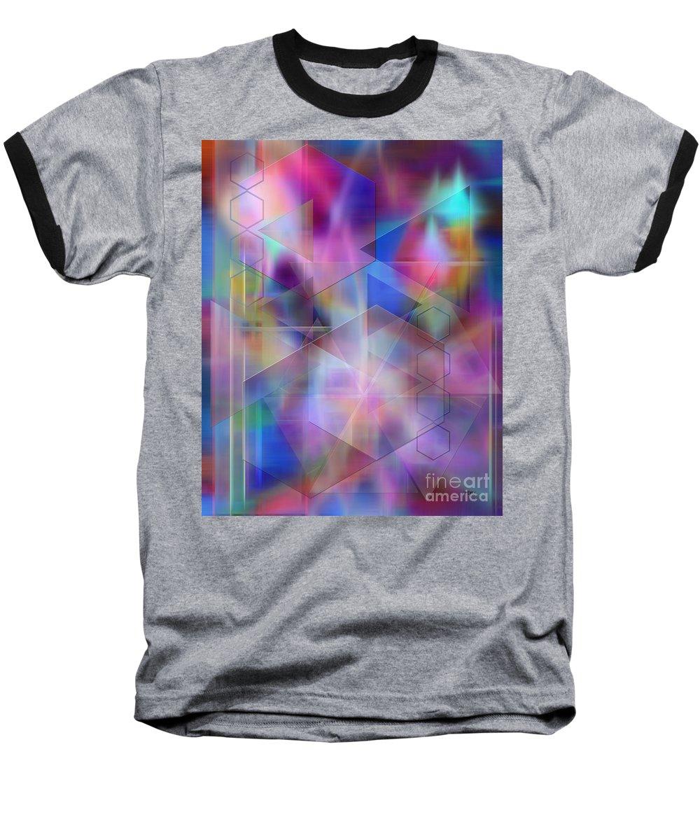 Usonian Dreams Baseball T-Shirt featuring the digital art Usonian Dreams by John Beck