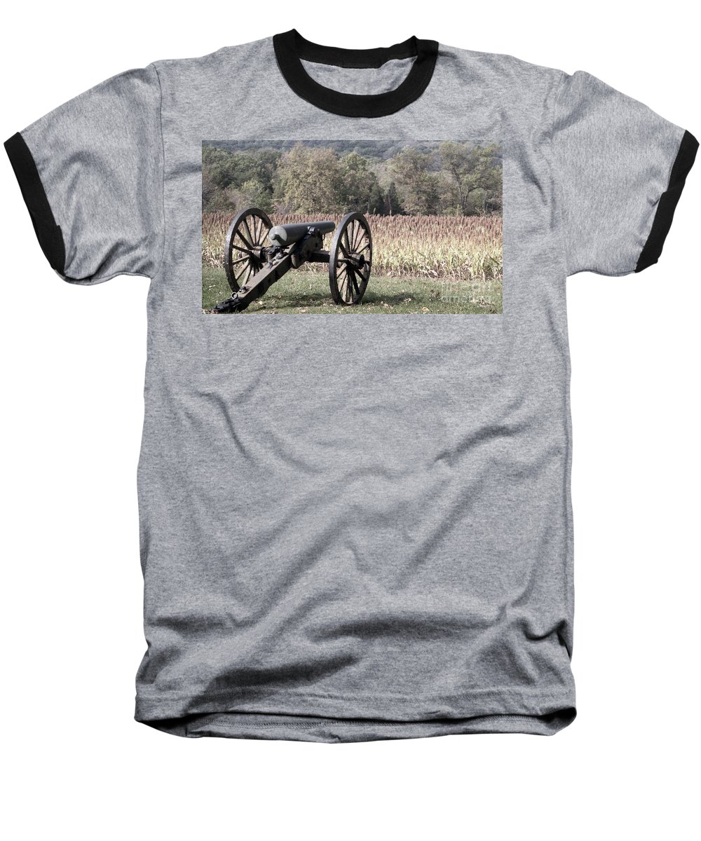 Gettysburg Baseball T-Shirt featuring the photograph Valley Of Death by Richard Rizzo