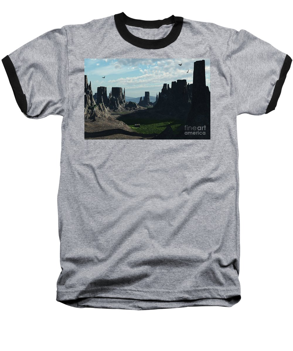 Valley Baseball T-Shirt featuring the digital art Valley Of The Kings by Richard Rizzo
