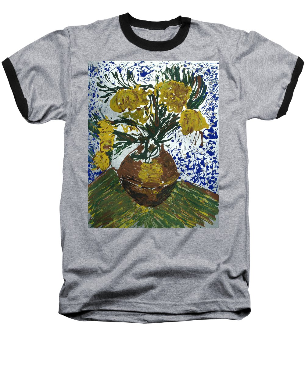 Flowers Baseball T-Shirt featuring the painting Van Gogh by J R Seymour