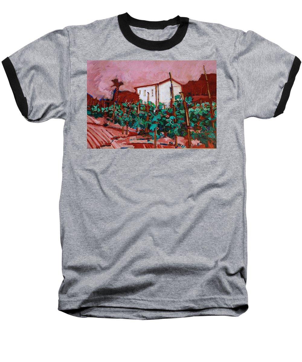 Tuscany Baseball T-Shirt featuring the painting Vecchio Casa Di Pietro by Kurt Hausmann