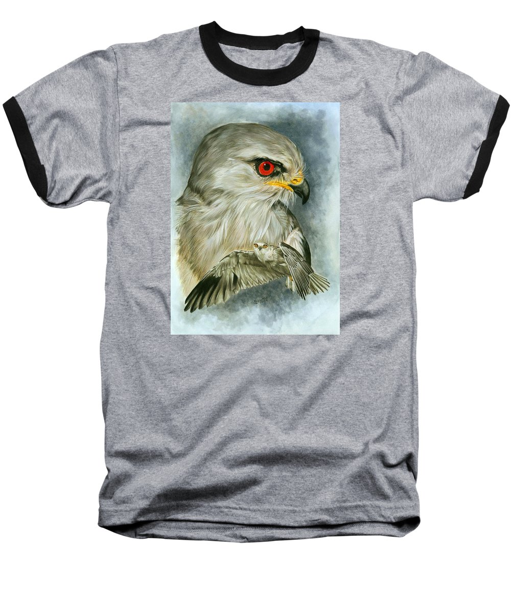Kite Baseball T-Shirt featuring the mixed media Velocity by Barbara Keith