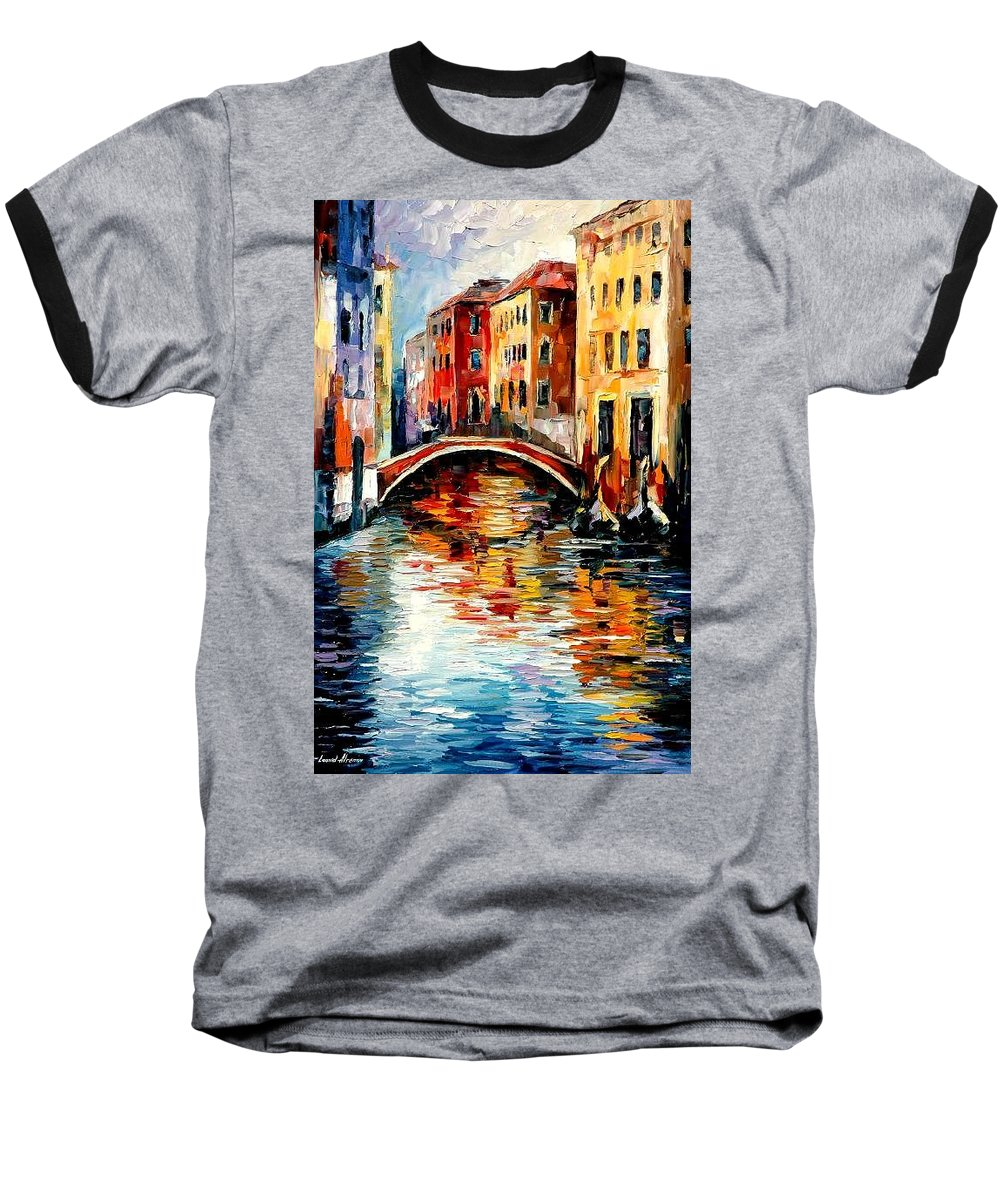 Landscape Baseball T-Shirt featuring the painting Venice by Leonid Afremov