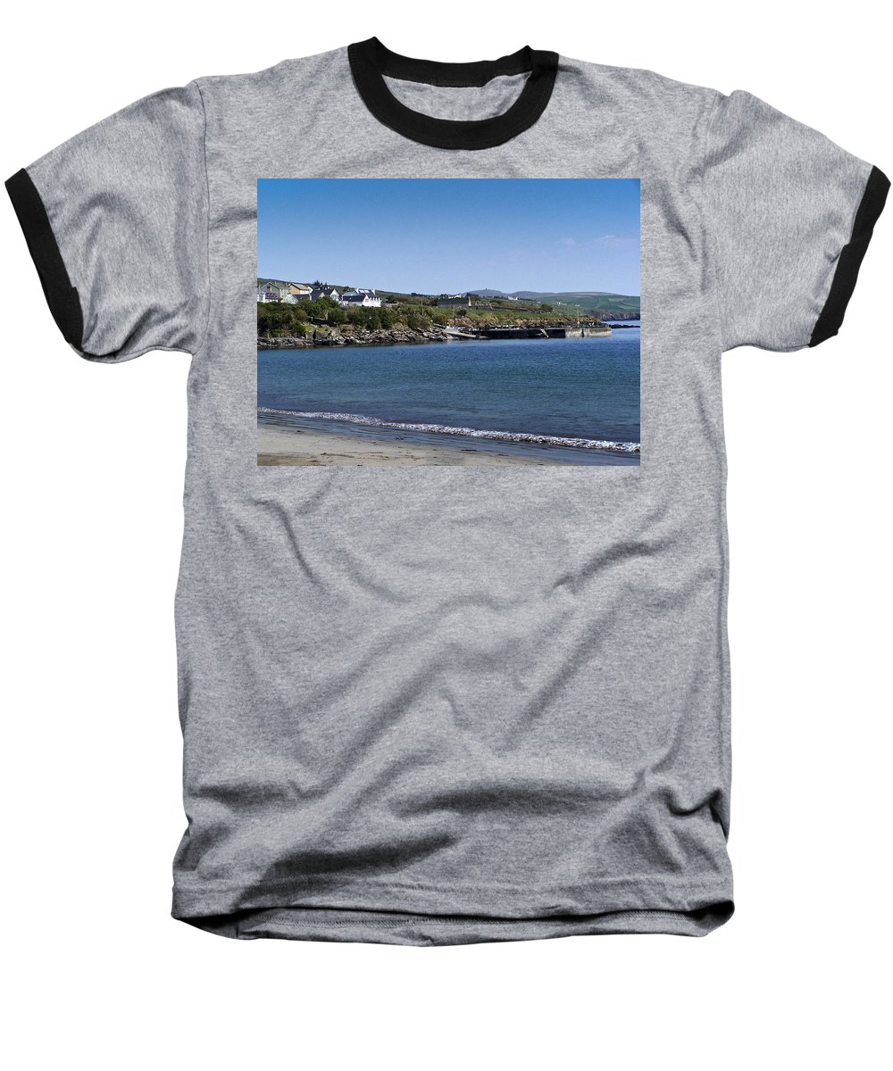 Irish Baseball T-Shirt featuring the photograph Ventry Beach And Harbor Ireland by Teresa Mucha