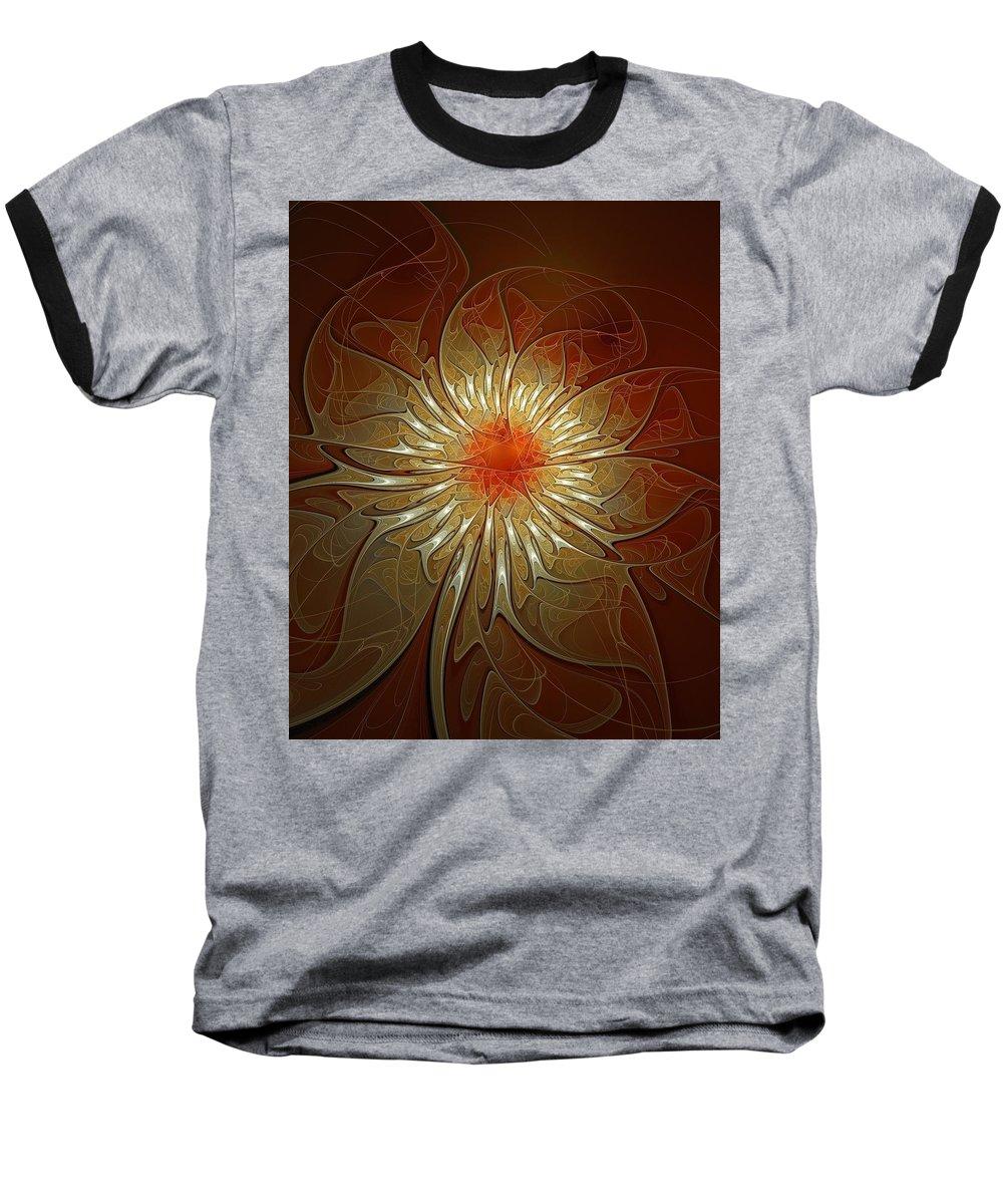 Digital Art Baseball T-Shirt featuring the digital art Vibrance by Amanda Moore