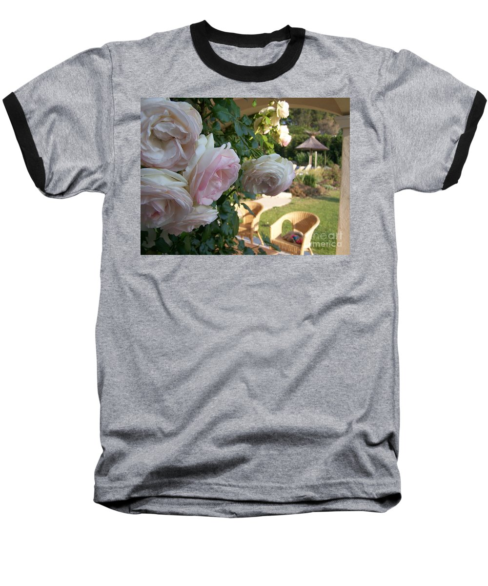 Roses Baseball T-Shirt featuring the photograph Villa Roses by Nadine Rippelmeyer