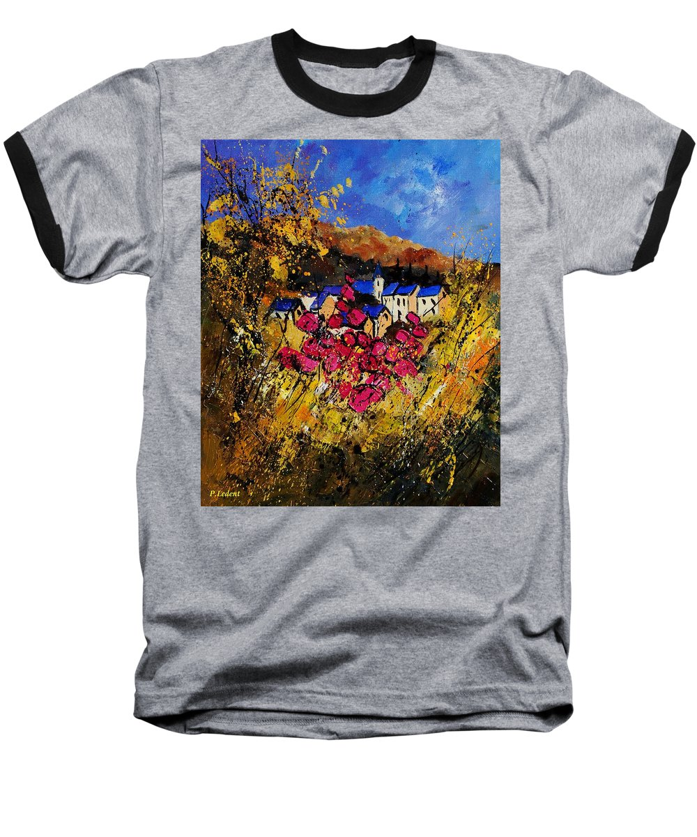 Flowers Baseball T-Shirt featuring the painting Village 450808 by Pol Ledent