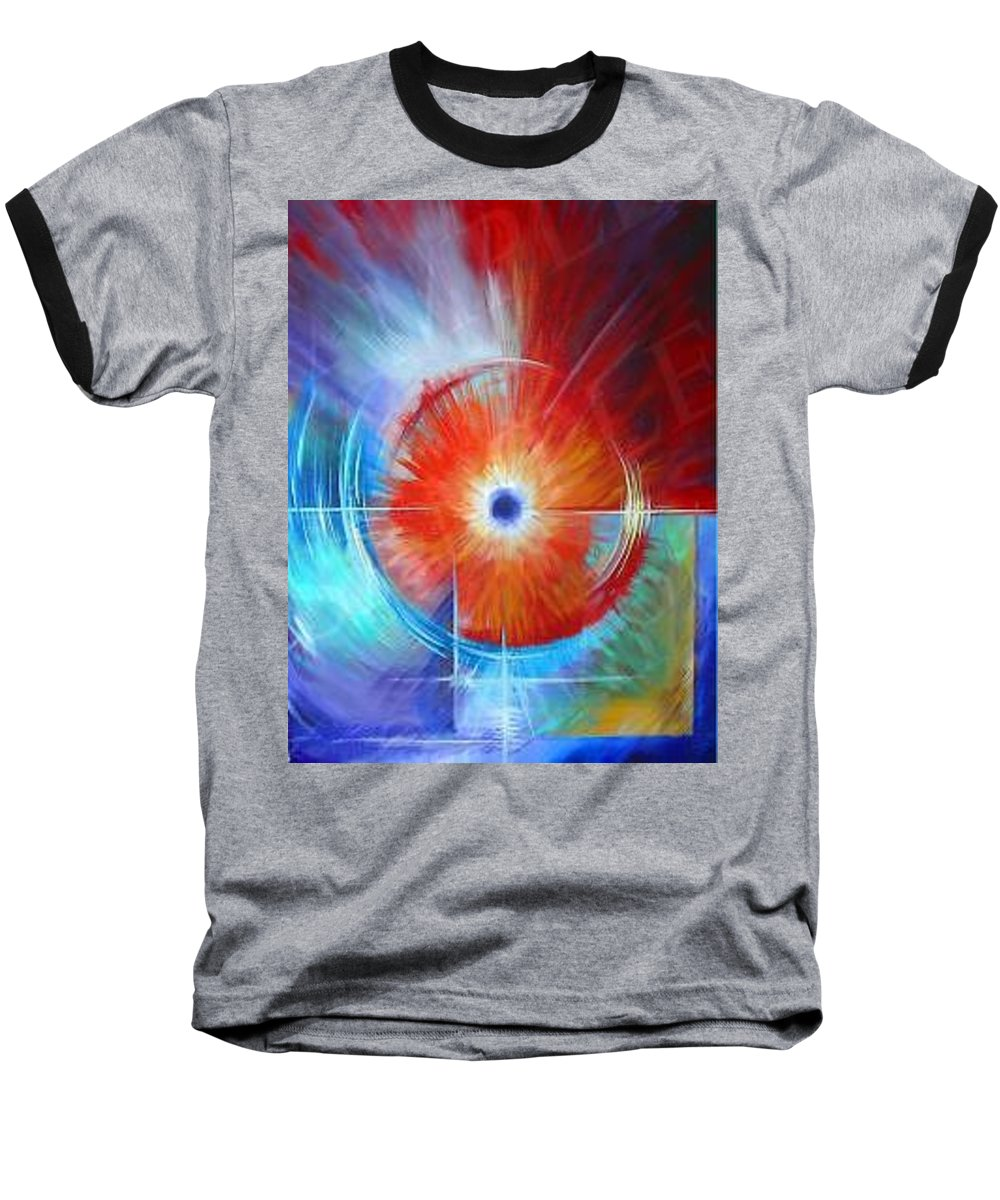 Clouds Baseball T-Shirt featuring the painting Vortex by James Christopher Hill