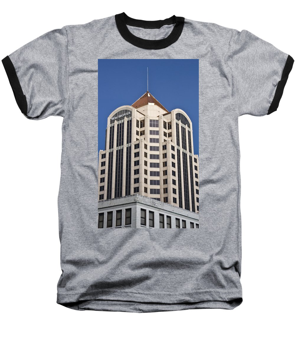 Roanoke Baseball T-Shirt featuring the photograph Wachovia Tower Roanoke Virginia by Teresa Mucha
