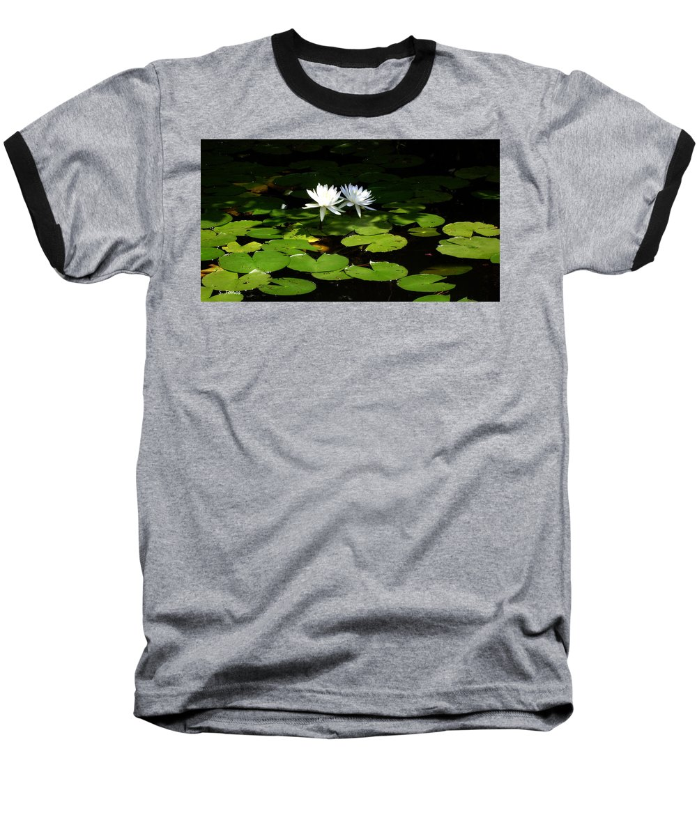 Water Baseball T-Shirt featuring the photograph Wading Fairies by Shelley Jones