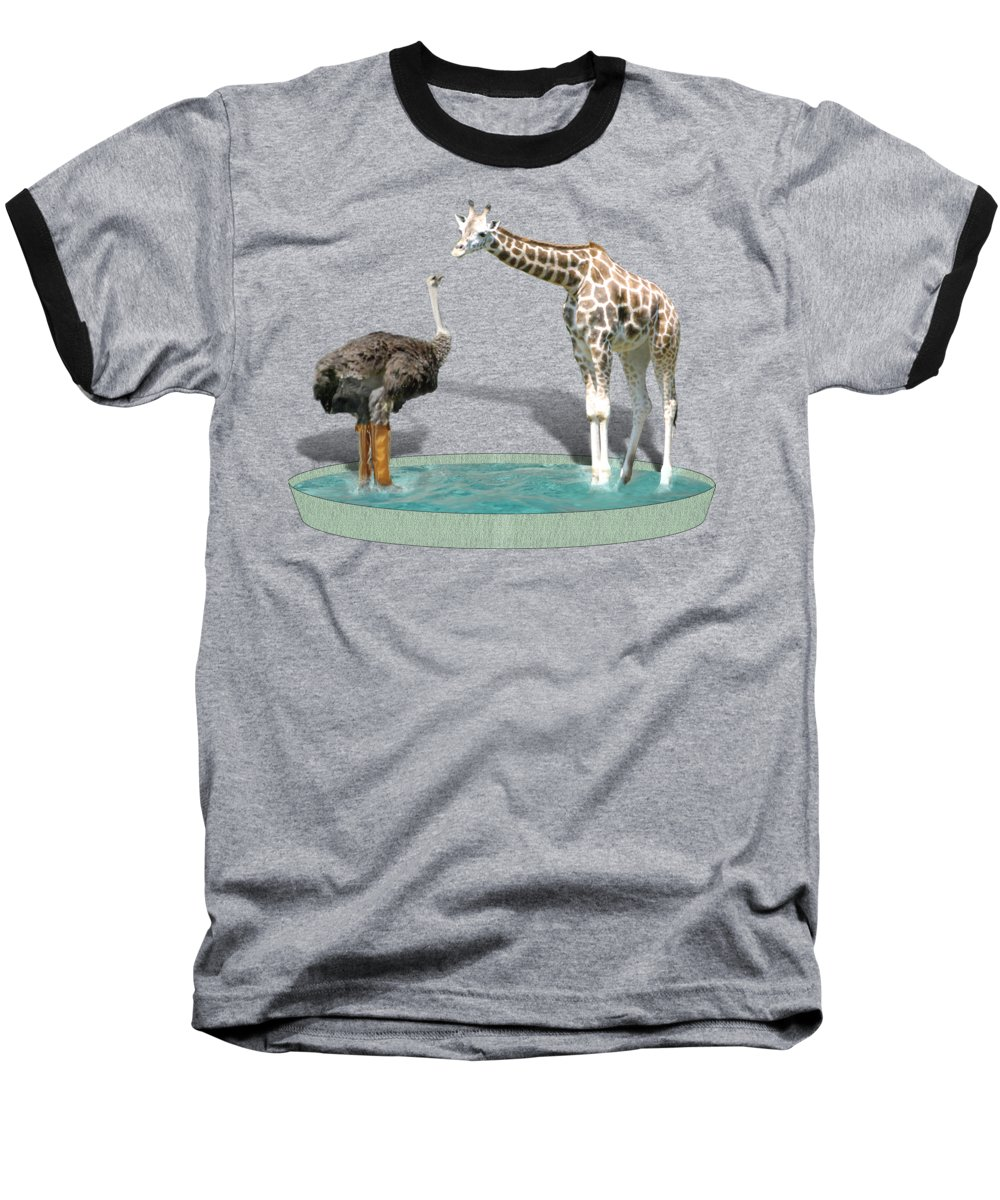Ostrich Baseball T-Shirts