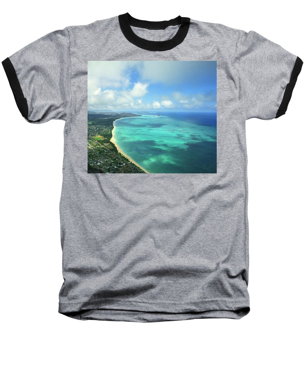 Waimanalo Baseball T-Shirt featuring the photograph Waimanalo Bay by Kevin Smith