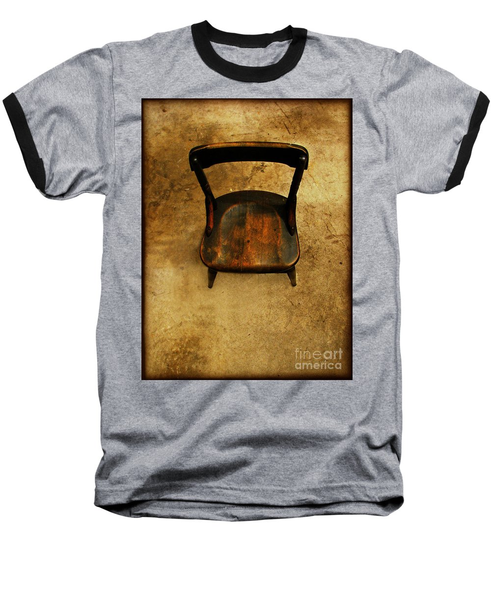 Alone Baseball T-Shirt featuring the photograph Waiting To Say Goodbye by Dana DiPasquale