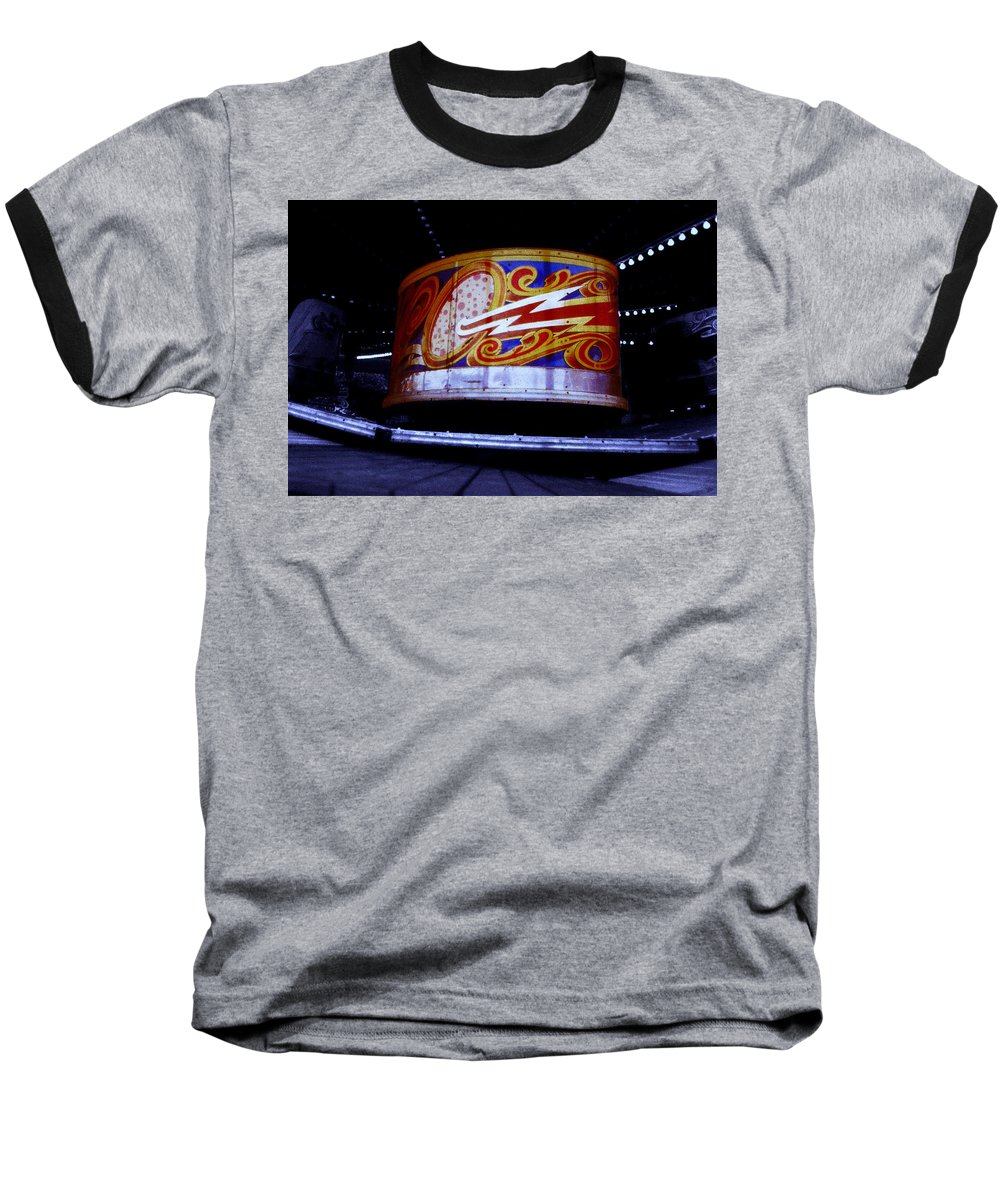 Waltzer Baseball T-Shirt featuring the photograph Waltzer by Charles Stuart