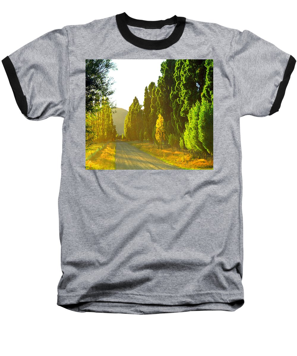 Wanaka Baseball T-Shirt featuring the photograph Wanaka Morning Light by Kevin Smith