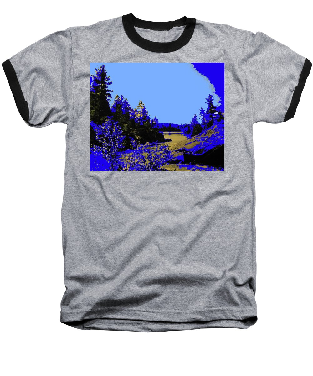 Northern Baseball T-Shirt featuring the photograph Wanapitae River Morning by Ian MacDonald