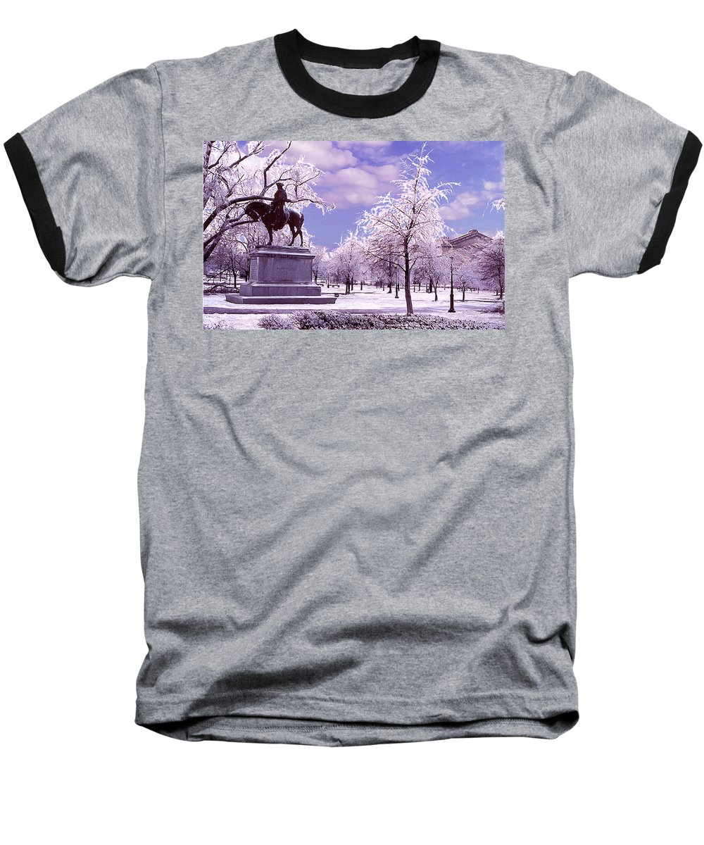 Landscape Baseball T-Shirt featuring the photograph Washington Square Park by Steve Karol