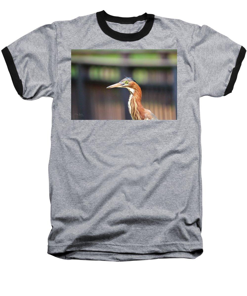 Baseball T-Shirt featuring the photograph Watching You by Tony Umana