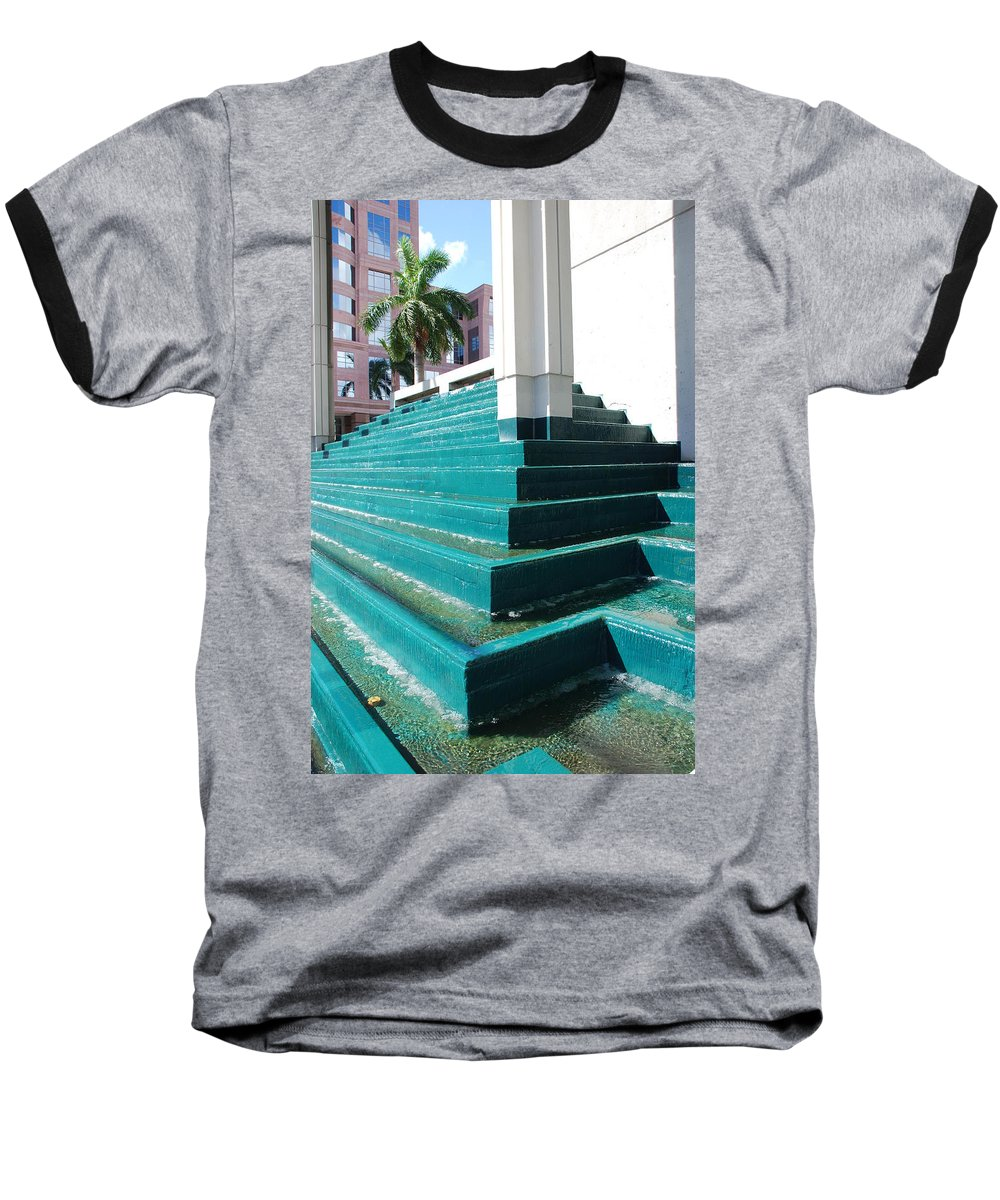 Architecture Baseball T-Shirt featuring the photograph Water At The Federl Courthouse by Rob Hans
