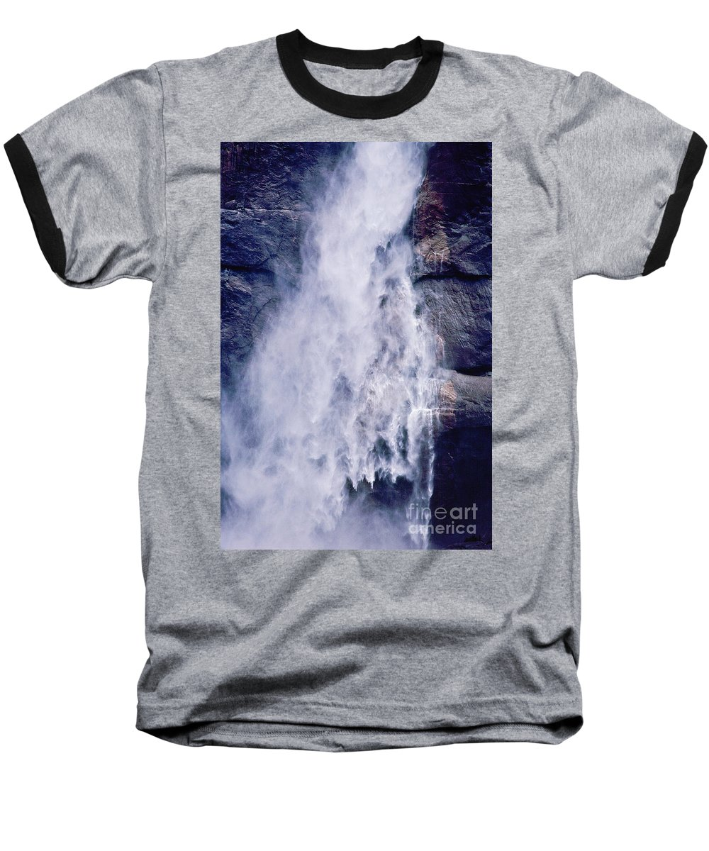 Waterfall Baseball T-Shirt featuring the photograph Water Drops by Kathy McClure