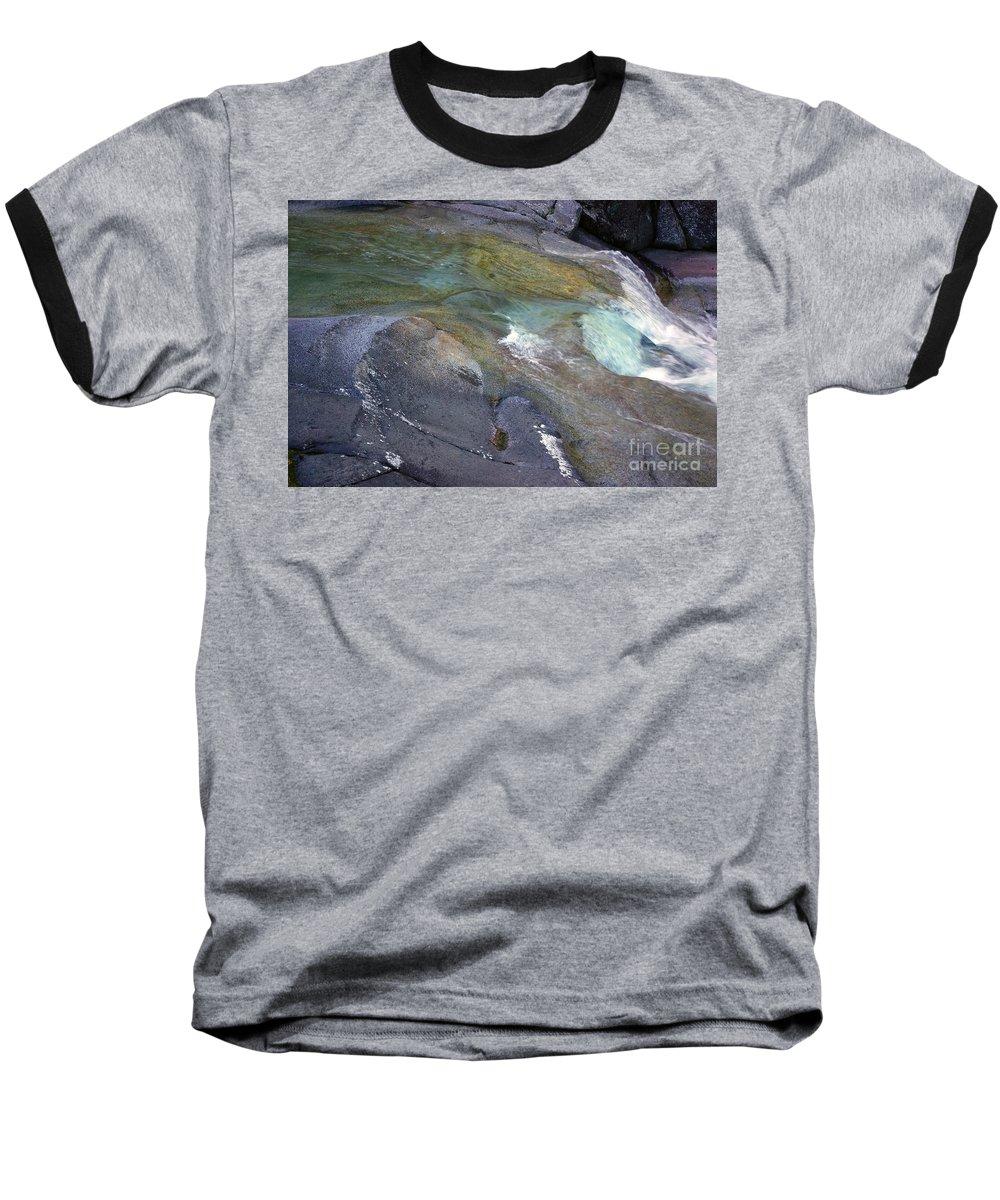 Tropical Baseball T-Shirt featuring the photograph Water Flow by Kerryn Madsen- Pietsch