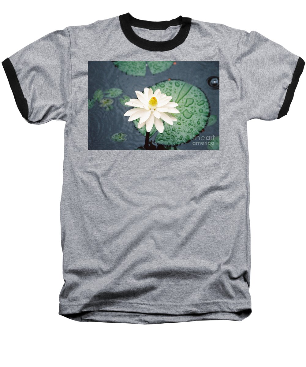 Flowers Baseball T-Shirt featuring the photograph Water Lily by Kathy McClure