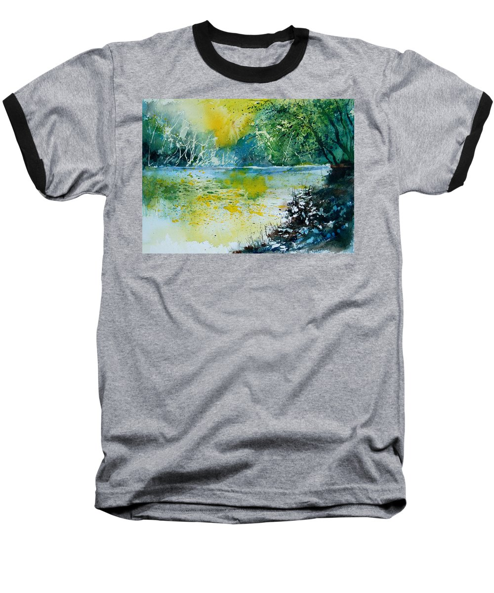 Pond Baseball T-Shirt featuring the painting Watercolor 051108 by Pol Ledent