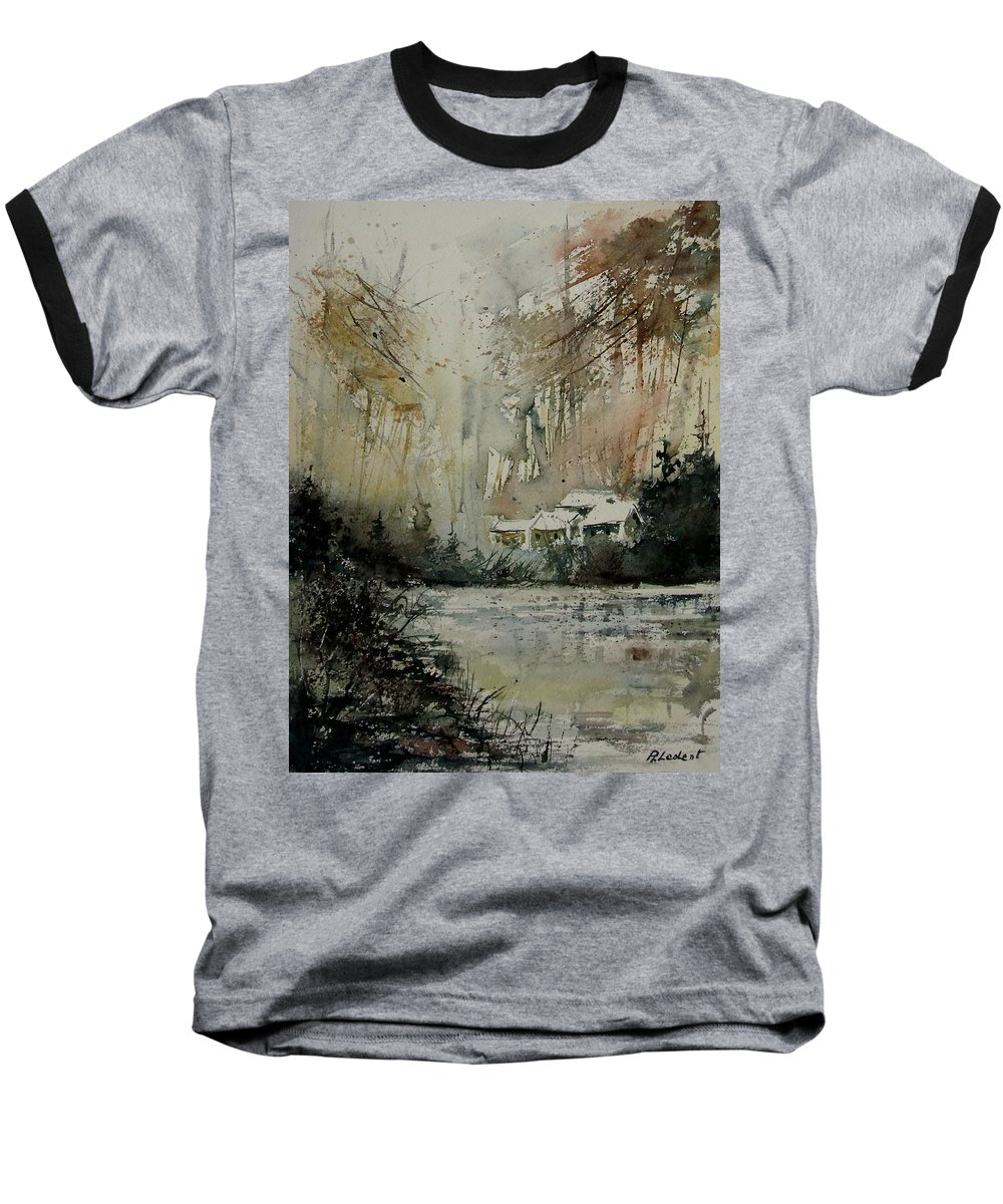 Landscape Baseball T-Shirt featuring the painting Watercolor 070608 by Pol Ledent