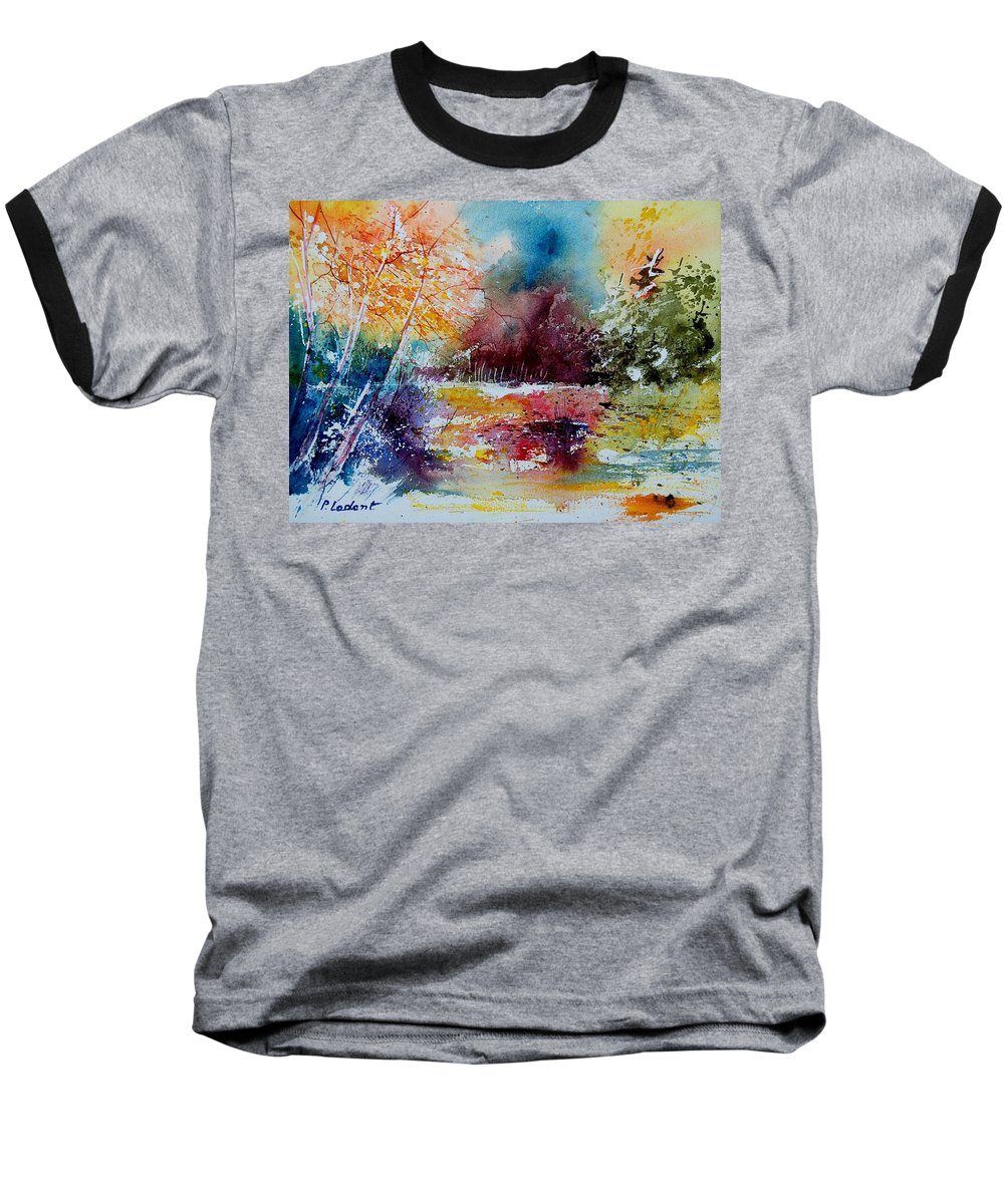 Pond Baseball T-Shirt featuring the painting Watercolor 140908 by Pol Ledent