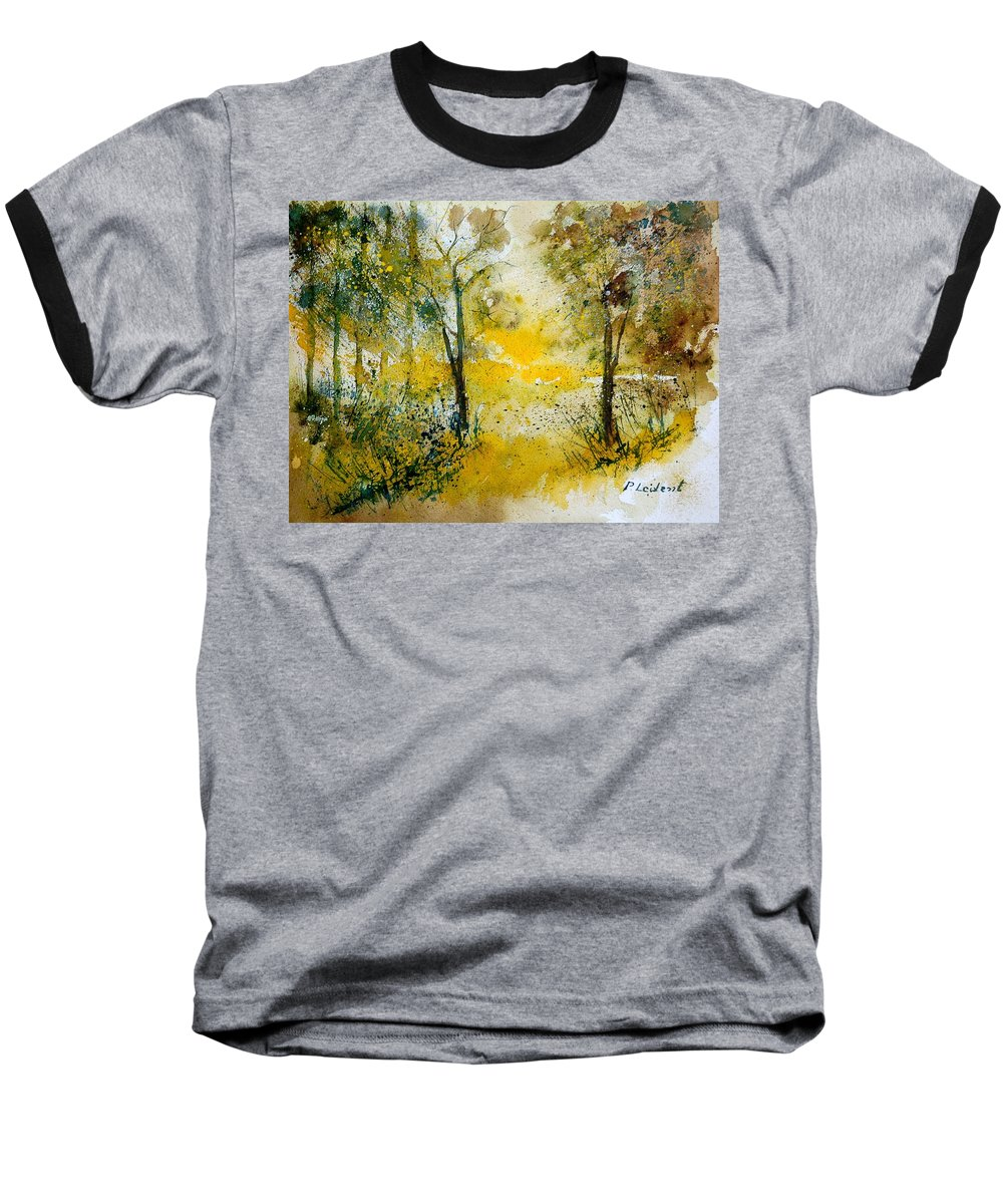 River Baseball T-Shirt featuring the painting Watercolor 210108 by Pol Ledent