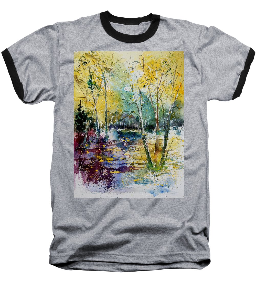 Pond Baseball T-Shirt featuring the painting Watercolor 280809 by Pol Ledent