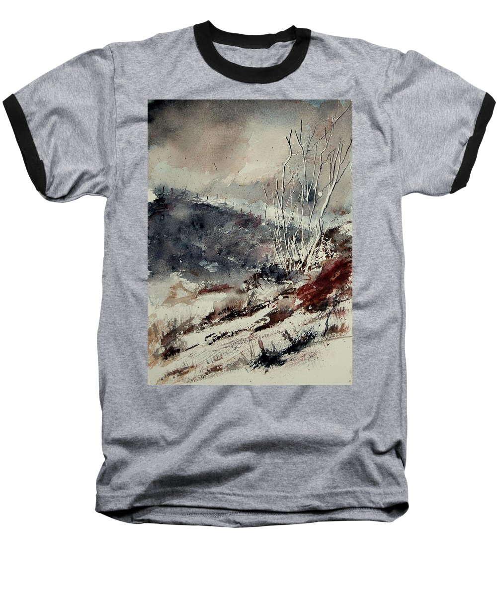 Snow Baseball T-Shirt featuring the print Watercolor 446 by Pol Ledent