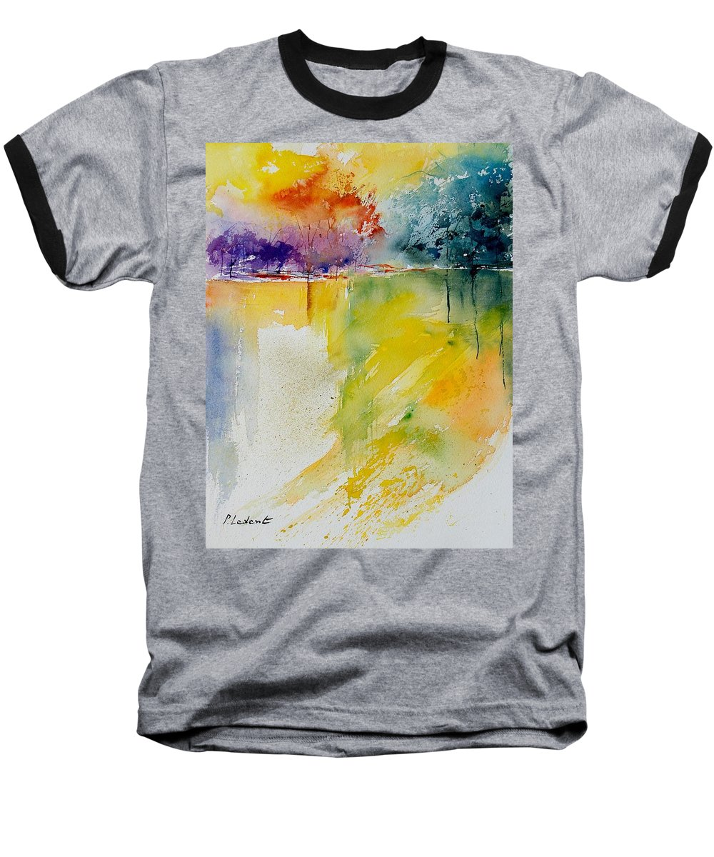 Pond Baseball T-Shirt featuring the painting Watercolor 800142 by Pol Ledent