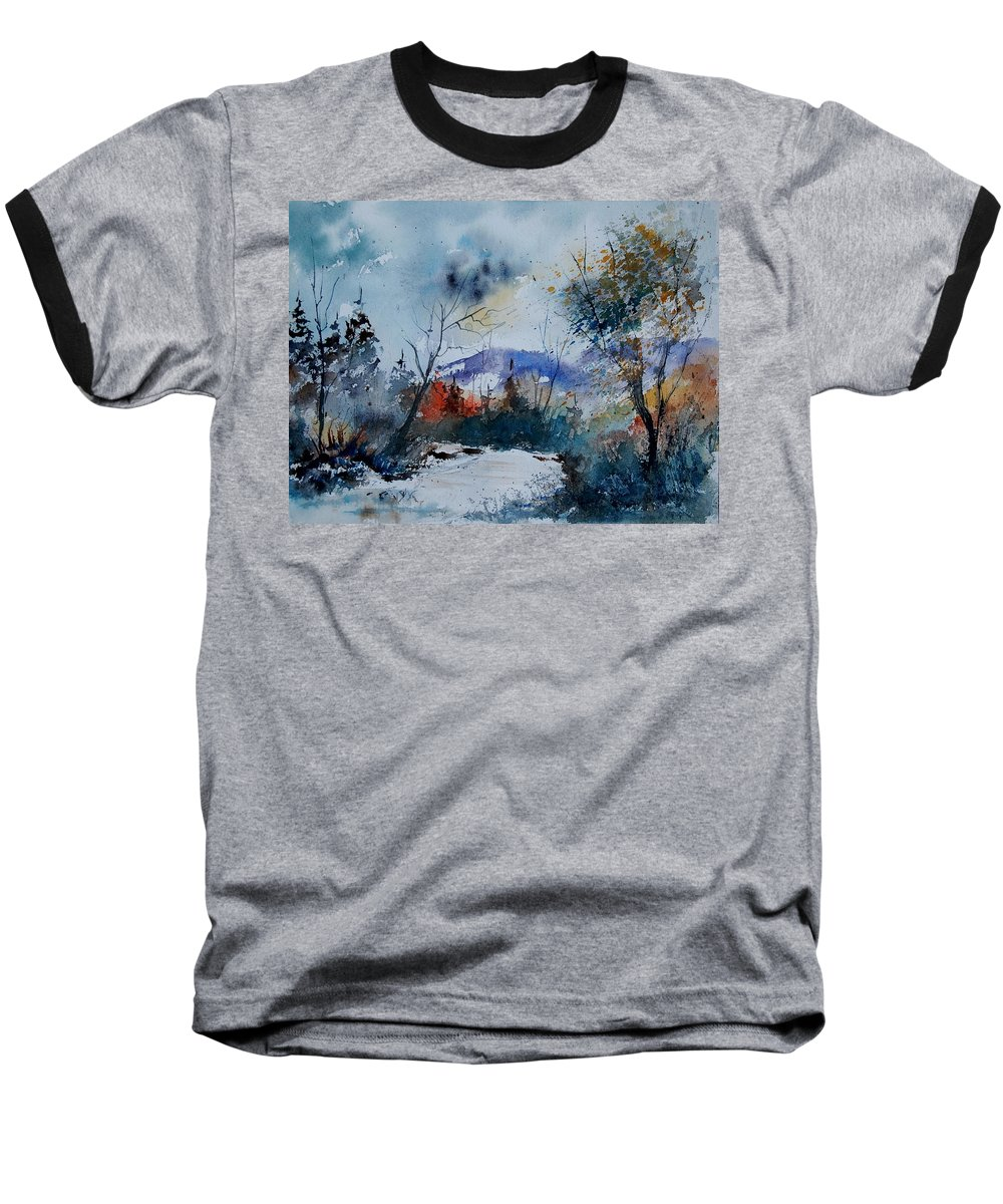Landscape Baseball T-Shirt featuring the painting Watercolor 802120 by Pol Ledent