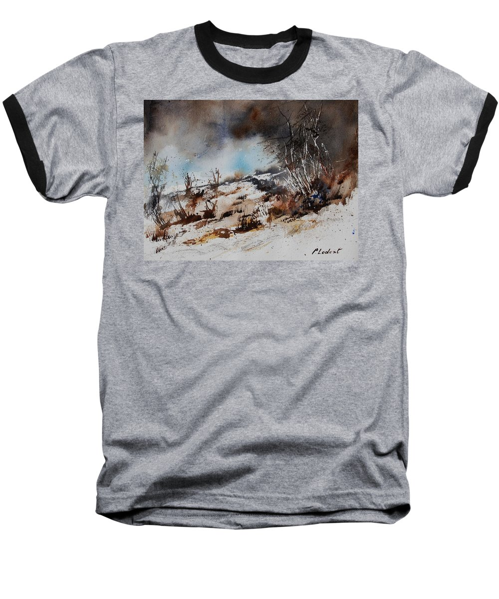 River Baseball T-Shirt featuring the painting Watercolor Jjook by Pol Ledent