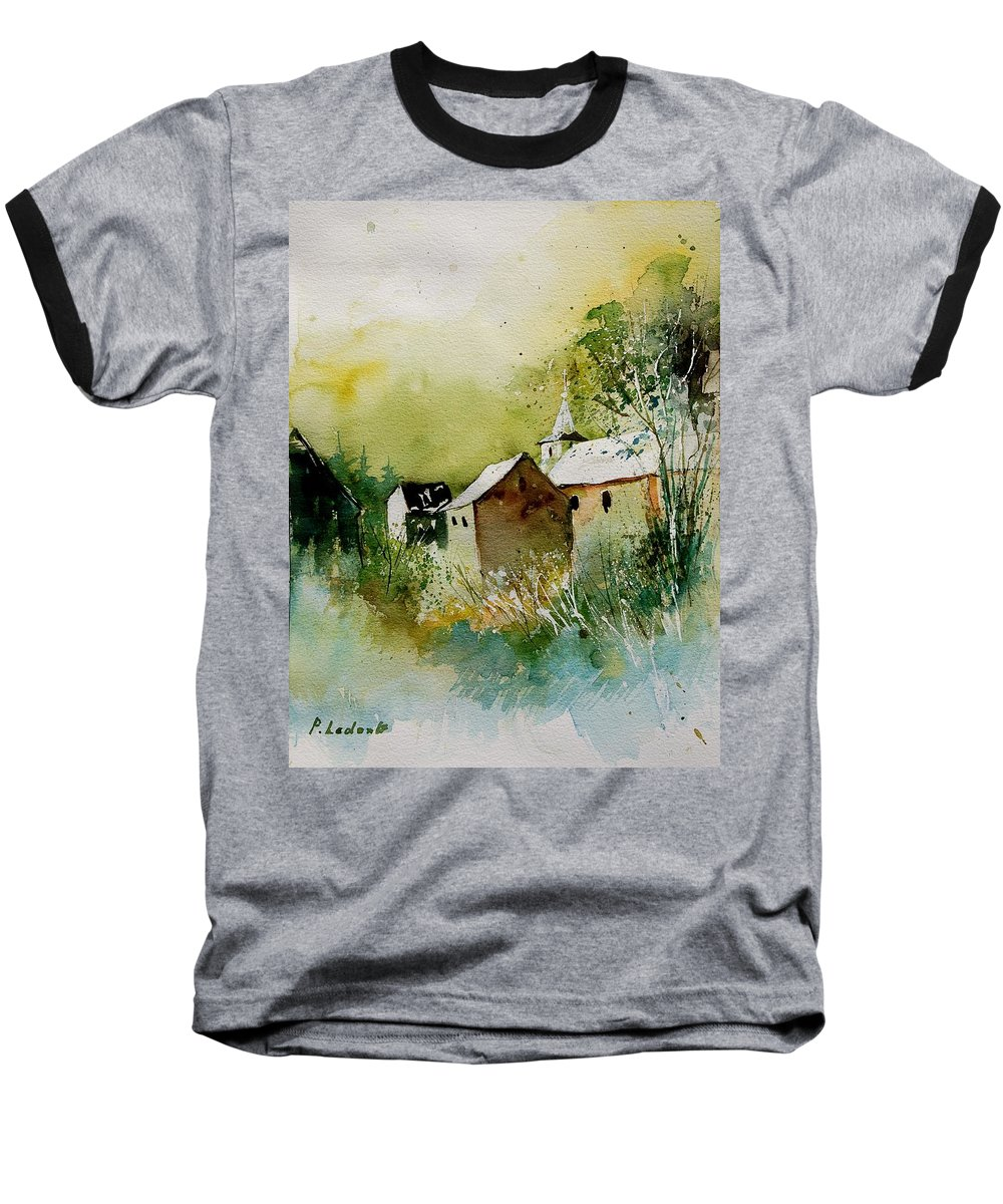 Landscape Baseball T-Shirt featuring the painting Watercolor Sosoye by Pol Ledent