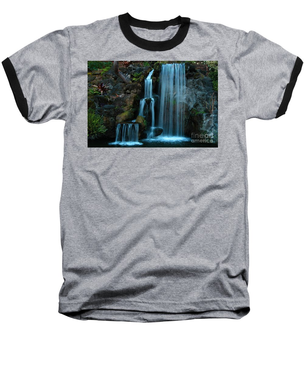 Clay Baseball T-Shirt featuring the photograph Waterfalls by Clayton Bruster